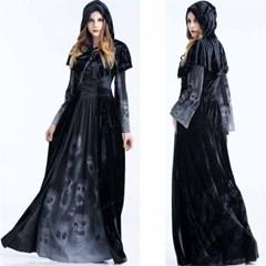 할로윈 파티 마녀 뱀파이어 여성 코스튬 드레스 의상  H