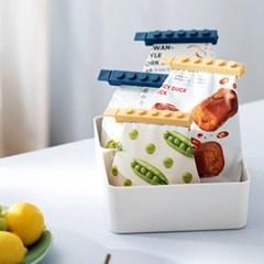 밀봉 클립 봉지 밀폐보관 비닐봉투 과자봉지 집게 4개세트 CT006