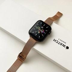 애플워치 슬림 메탈 스트랩 루프 밴드 시계줄 44mm