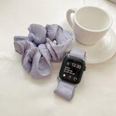 애플워치 심플 실크 곱창 스트랩 루프 밴드 시계줄 44mm