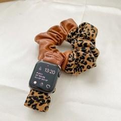 애플워치 호피 가죽 곱창 스트랩 루프 밴드 시계줄 44mm
