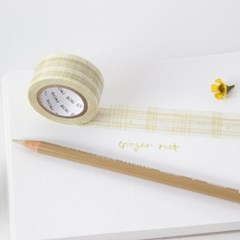 Color Pencil Check Masking Tape [Ginger Root]