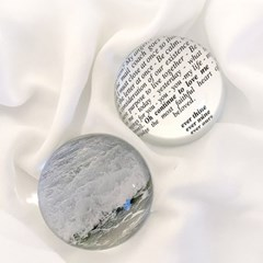 [선데이페르소나] 하얀파도와 포말 유리문진 크리스탈 오브제