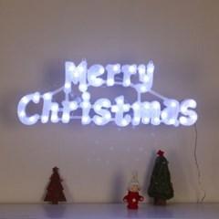 [은하수]LED 메리 크리스마스 글자 백색전구(점멸)