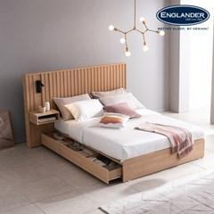 잉글랜더 티탄 호텔형 트윈 수납 침대+협탁1EA(매트제외-Q+SS)
