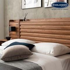 잉글랜더 도로시 원목 호텔형 트윈 수납 침대+협탁1EA(매트제외-SS+S