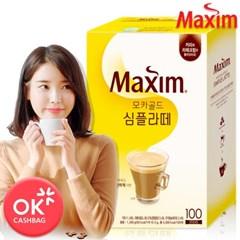 맥심 모카골드 심플라떼 100T /커피/커피믹스