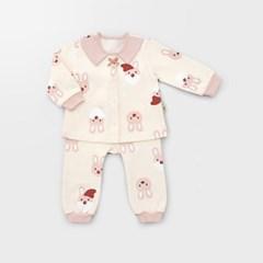 [메르베] 산타토끼 아기 돌선물세트(내의+수면조끼)_겨울용