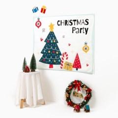 대형 패브릭 인테리어 포스터 11종 크리스마스 집 꾸미기 소품