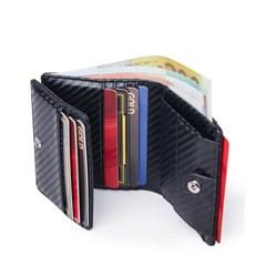 바이슨데님 남자 수제 가죽 미니  카드 동전 지갑 W4533-2B