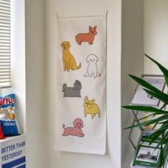 dogs/강아지_세로형 패브릭 포스터 / 바란스커튼