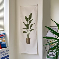 pot plant a_세로형 패브릭 포스터 / 바란스커튼