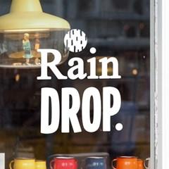 rain drop 감성 레터링 인테리어 스티커