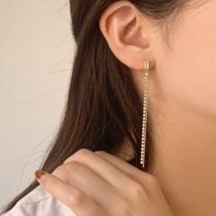 [웨딩][귀찌가능] 피로연 신부귀찌 큐빅롱 귀걸이