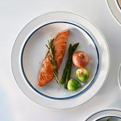 정품 시라쿠스 메이플 라인/코지 7컬러 접시 대 23cm