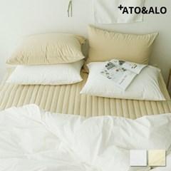 아토앤알로 60수 순면 바이이워싱 호텔식 침대패드(SS/Q) 2컬러