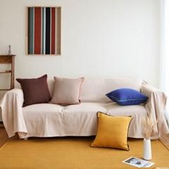 바이어스 자연친화 수제면 쿠션 방석 커버 시리즈 4 color