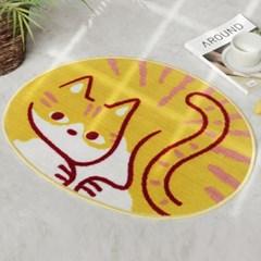 식빵 굽는 고양이 발매트 러그 2color d