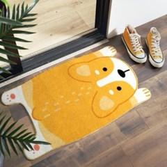웰시코기 강아지 발매트 러그 2color d