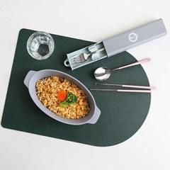 무소음 휴대용 도시락 수저 포크 수저통세트(3color)