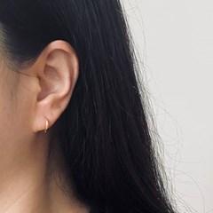 실버925 스몰 베이직 원터치 귀걸이