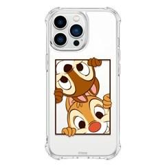 (방탄케이스) 디즈니 칩앤데일 빼꼼 아이폰13 Mini Pro Max