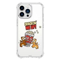 (방탄케이스) 디즈니 칩앤데일 위드팝콘 아이폰13 Mini Pro Max