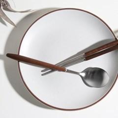 벨류세라믹 디니스 월넛핸들 원목수저세트 (숟가락+젓가락)