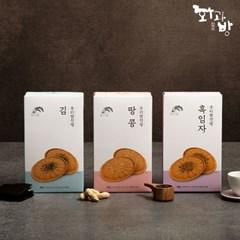 [화과방] 우리쌀전병 김/땅콩/흑임자 X 3박스