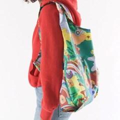 [바쿠백] 휴대용 장바구니 접이식 시장가방 Libra 천칭자리