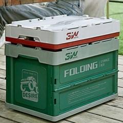 일체형 폴딩 감성 캠핑 차량용 가정용 수납 정리 박스