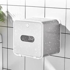 북유럽 화장실 욕실 접착식 휴지 화장지 걸이 케이스 _화이트