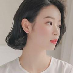 제이로렌 11G0101 10K 골드 큐빅하트 귀걸이
