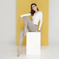 여성 요가복 DEVI-T0070-화이트 노르딕 원스 티셔츠