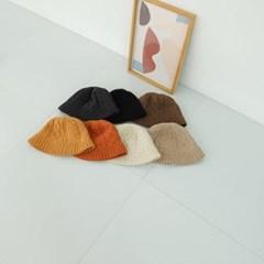 니트 뜨개 꾸안꾸 데일리 챙넓은 버킷햇 벙거지 모자