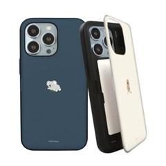 아이폰 13 시리즈 하드 미니동물 카드수납 자석 도어 범퍼 케이스