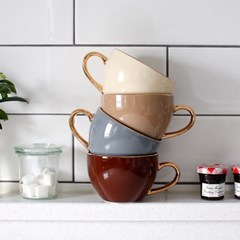 Ecrins 24K골드 노블 도자기 커피잔 1인세트-4color