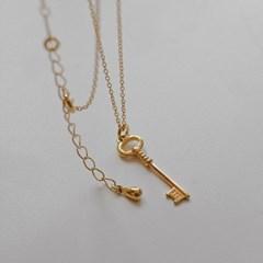 데일리 열쇠목걸이 925실버 key 레이어드 은목걸이