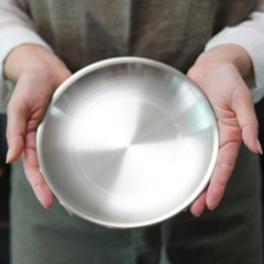 포스코 스텐 무광 접시 19cm