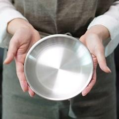 포스코 스텐 무광 접시 16cm