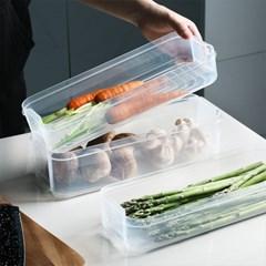 냉장고 정리 야채 식재료 투명 용기 적층 보관통