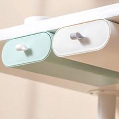 탁상용 책상 테이블 아래 붙이는 손잡이 미니 서랍 1p