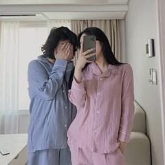 청년잠옷 남녀공용 무지 파스텔 요루면 잠옷