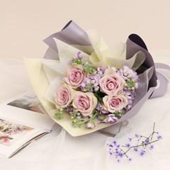 퍼플 로즈 꽃다발 (생화, 전국택배)