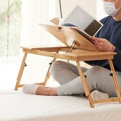 데일리 대나무 원목 침대 각도조절 베드테이블 50cm