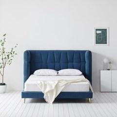 퍼니코 노블 아쿠아텍스 패브릭 평상형 침대 프레임 Q (매트 포함)