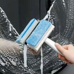 2in1 욕실 청소 스펀지 스퀴지 유리닦이 거울청소용품 물기제거