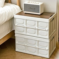 가정용 캠핑용 다용도 폴딩 우드 플라스틱 정리 박스