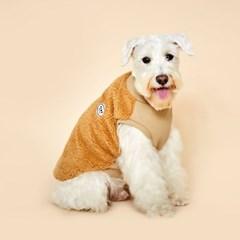 플로트 플러피후리스 하프넥민소매 강아지옷 베이지