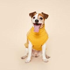 플로트 플러피후리스 하프넥민소매 강아지옷 옐로우